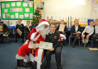 Santa Visits Eastrington Primary School